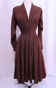 claire mccardell townley images | Vintage 1940s Claire McCardell Townley Pleated Fine Lines Wool Dress S ...