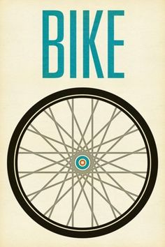 graphic, heart, wheel, bike rides, poster