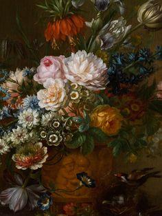 Willem van Leen, 1753 Dordrecht - 1825 Delft Haven FLOWER Still Life with BIRD, BIRD'S NEST AND STRAWBERRIES
