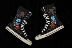 fully beaded high top shoes