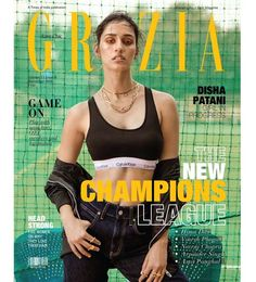 Disha Patani is the cover girl for Grazia Magazine's November 2018 edition. The Skinny Babe flaunts her curves while appearing in a Calvin Klein medium Indian Film Actress, Indian Actresses, Actors & Actresses, Disha Patni, Actress Priya, Calvin Klein Sport, New Champion, Satin Jackets, Bikini Photos