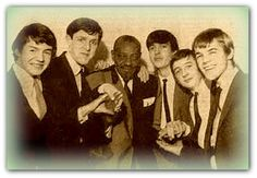 With Sonny Boy Williamson and Rod Mayall , 1964 ,age 17. at Manchester Free Trade Hall