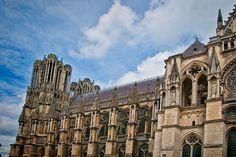 Reims Cathedral, Reims, Champagne Region, France #Paris #pariscityvision #visiterparis #tour #visit #travel #voyage #tourism #reims #champagne #Cathedral, #France #sacred #architecture