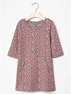 Floral zip shift dress