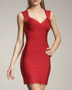 The perfect bandage dress! Cross-Bust Bandage Dress by #HerveLeger at Neiman Marcus.