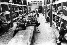 Inside the barracks where the women slept at Ravensbruck Women's concentration camp