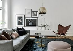 For those of you who still don't get inspiration, try Scandinavian-style designs that can be a choice for living room decor. Scandinavian living room design is Elegant Home Decor, Elegant Homes, Living Room Scandinavian, Gravity Home, Decoration Inspiration, Decor Ideas, Room Ideas, Space Interiors, White Interiors