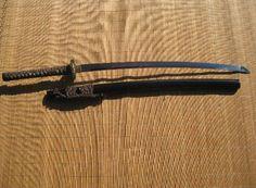 Ronin Katana Dotanuki Shinto Dragon samurai sword - Shinto dragon tsuba with 1045 steel blade. Years made 2008