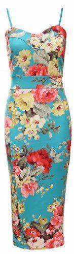 Womens Ladies Multi Colour Floral Print Strapy Bodycon Midi Party Dress UK 8-14 (uk 10, multi) Unknown http://www.amazon.co.uk/dp/B00K4BYX0S/ref=cm_sw_r_pi_dp_sJK8tb1XHK6HS