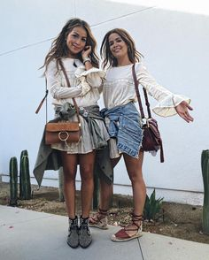 One @tularosalabel dress two girls!  Playing twins with my love @collagevintage @revolve #revolvefestival by sincerelyjules