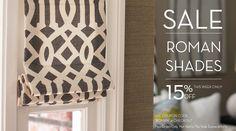 Custom Roman Shades Now On Sale at DrapeStyle!    #home, #homedecor, #interiordesign, #drapery, #windowcoverings, #curtains, #drapestyle, #customdrapes, #customcurtains, #drapes, #drapery, #romanshades