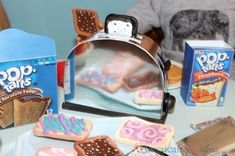 Wow! This a DIY American Girl Toaster. What a cool kitchen accessory for your American Girl Doll House.
