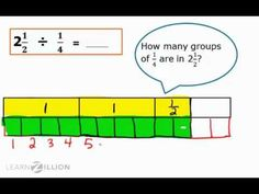 Divide mixed numbers by fractions using models - 6.NS.1 - YouTube
