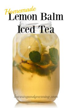 If you grow or forage lemon balm, try using some to make lemon balm iced tea. It's incredibly delicious and easy to make!: