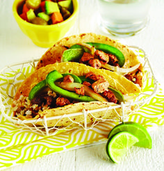 Chile Lime Pork Tacos with Papaya Avocado Salsa - Clean Eating