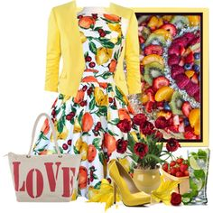 """fruit salad dress"" by countrycousin on Polyvore"