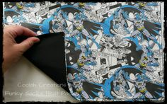 Nah nah nah nah BATMAN!! Custom heat pack in the making.   (Tags: #CoolahCreations #handmade #heatpack #funkysacks #batman) Heat Pack, Sacks, Packing, Bag Packaging, Burlap Sacks