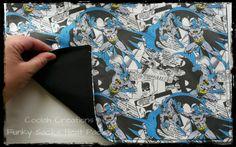 Nah nah nah nah BATMAN!! Custom heat pack in the making.   (Tags: #CoolahCreations #handmade #heatpack #funkysacks #batman)