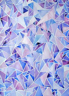 Watercolor Tutorial: Abstract Triangles Get your paint brushes at the ready! You too can paint a beautiful watercolor – abstract triangles. You will need Watercolor Paper A palette of watercolor paints Paintbrush There really […] Watercolor Paintings Abstract, Watercolor Trees, Easy Watercolor, Watercolour Tutorials, Watercolor Pattern, Watercolor Techniques, Watercolor Illustration, Tattoo Watercolor, Watercolor Landscape