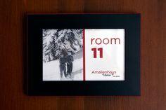 Room number at Chalet Amalien Haus, St Anton. Ski holidays with flexiski.