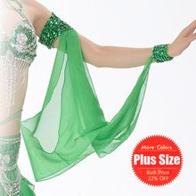 11 Colors Wholesale Belly Dance Costume Accessories 1 Piece Arm Sleeves Wrist Adjustable Chiffon Sleeve Sequins Armbands(China…