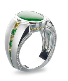 Pristine Jade Gents Ring - Mark Schneider Design