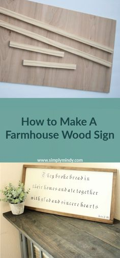 How to make a Farmhouse Wood Sign Looking for diy farmhouse décor ideas? Try this budget farmhouse wood sign to add to your rustic décor.Informations About How to make a Farmhouse Wood Sign Looking for diy farmhouse dé Diy Wood Signs, Rustic Wood Signs, Rustic Decor, Quotes For Wood Signs, Making Signs On Wood, Farmhouse Frames, Farmhouse Signs, Farmhouse Decor, Modern Farmhouse