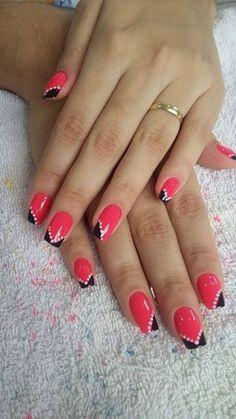 All About The Manicure Wow Nails, Cute Nails, Pretty Nails, Dot Nail Art, Nail Art Diy, Nagellack Design, French Tip Nails, Beautiful Nail Art, Creative Nails
