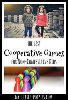 Some kids love a competition and some do not. Here are some cooperative games to help balance your family's game closet for non-competitive children. Games For Kids Classroom, Gym Games For Kids, Building Games For Kids, Kids Gym, Kindergarten Games, Preschool Games, Activities For Kids, Group Activities, Future Classroom
