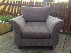 Sofa And Two Armchairs Brown Fabric Wingback Chair, Sofa, Armchairs, Accent Chairs, Brown, Fabric, House, Furniture, Ideas