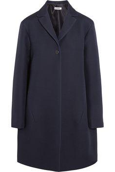 Jil Sander|Satin-trimmed wool and silk-blend coat|NET-A-PORTER.COM