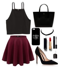 """""""A Day Out Hope You Like It"""" by fabqueen1234 on Polyvore featuring Gianvito Rossi, Lacoste, Casetify, Gucci, Chanel and Essie"""