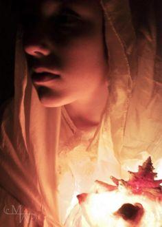 •Portrait Project• https://www.facebook.com/MelanieWebberArt #photography #digital #portrait #girl #shell #light