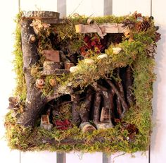 A WALL MOUNTED FAIRY HOUSE! geeeenius!!!