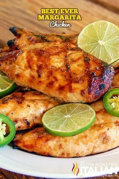 Best Ever Grilled Margarita Chicken has the fantastic flavor of tequila cooked into the chicken with subtle hints of sweetness from the agave and a li. Lime Marinade For Chicken, Lime Chicken Recipes, Bbq Chicken, Baked Chicken, Chicken Marinades, Margarita Chicken, Tequila Lime Chicken, Margarita Tequila, Grilling Recipes