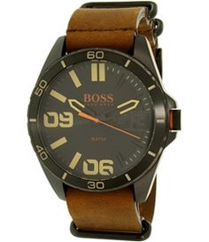 Hugo Boss Men's Orange 1513316 Brown Leather Quartz Watch