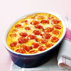 WeightWatchers.fr : recette Weight Watchers - Clafoutis de tomate express 6 PP