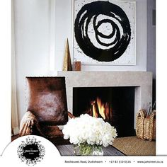 Orlando Diaz-Azcuy design Fireplace option for the master - like that it's light and also that it has a mantle. Living Room Inspiration, Interior Inspiration, Interior And Exterior, Interior Design, Design Interiors, Room Interior, Black White Art, Home And Living, Family Room