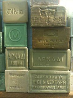 Olive oil Greek soap: great for skincare Savon Soap, Soaps, French Soap, Greek Olives, Olive Oil Soap, Perfume, Branding Iron, Olive Tree, Athens Greece