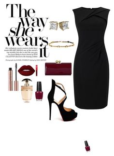 """""""Untitled #85"""" by breonaj on Polyvore featuring Christian Louboutin, Adrianna Papell, Prada, Lime Crime, OPI and Ted Baker"""