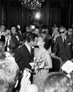 Jack Lemmon marries longtime girlfriend Felicia Farr while in France filming Billy Wilder's Irma la Douce in 1963.