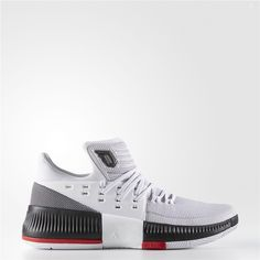 01c74142cd9506 Adidas Dame 3 RIP City Shoes (Running White Ftw   Core Black   Scarlet)