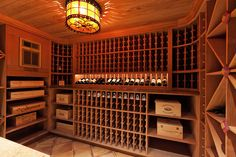 This year's Dream House wine cellar - Custom crafted from redwood, the temperature-controlled cellar holds 1,000+ wine bottles!