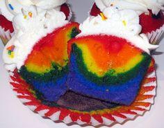 Inside Our Rainbow Cupcakes