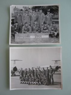 Two 8X10 black and white pilot training class photos from 1968 and 1973. They are both from the United States Air Force in Tucson Arizona.
