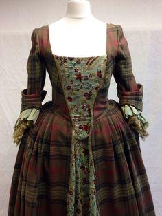 Terry Dresbach Costumer Designer for Outlander on Starz | Photo Nov 25 | Claire Beauchamp's (Caitriona Balfe) Gathering Dress