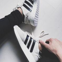 Adidas Womens Iniki Runner Boost - Grey/Chalk - 2017 (by _merveilleuses)
