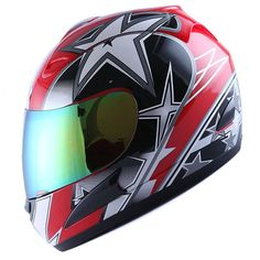 Motorcycle Modular Full Face Helmet Flip up Dual Visor Sun Shield Personality clown painting Dirt Bike four seasons motorcycle racing helmet,Black,M