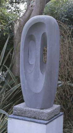 Dame Barbara Hepworth Title: 'Stone Sculpture (Fugue II)' Date: 1956 Dimensions: 1350 x 525 x 415 mm Modern Art Sculpture, Outdoor Sculpture, Stone Sculpture, Abstract Sculpture, Sculpture Ideas, Clay Sculptures, Garden Sculpture, Abstract Art, Classic Artwork