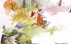 backgrounds calvin and hobbes art hd